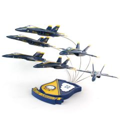 F/A-18 BLUE ANGELS 6 PLANE FORMATION 1/72 (CF018BAF) Mahogany Aircraft Model