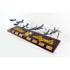 Blue Angels Collection 1/72 8 Plane Set (cfbac) Mahogany Aircraft Model