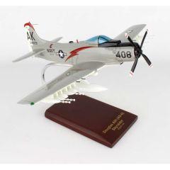 A-1h (AD-6) Skyraider Usn 1/40 (AA1nt) Mahogany Aircraft Model