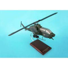AH-1w Usn Super Cobra 1/32 (hsct) Mahogany Aircraft Model