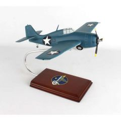 F-4f Wildcat 1/28 As Flown By Joe Foss (AF4ff) Mahogany Aircraft Model