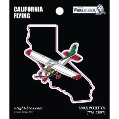 California State with Airplane Sticker
