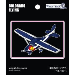 Colorado State with Airplane Sticker