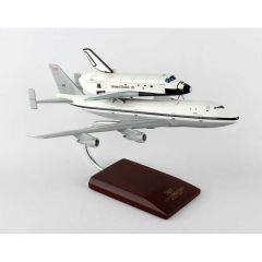 B-747 With Shuttle 1/200 Discovery (KYN747pbtp) Mahogany Aircraft Model