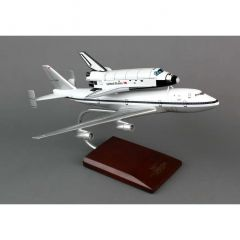 B-747 With Shuttle 1/200 Atlantis Mahogany Aircraft Model