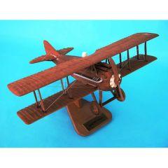 Spad Xiii Natural Wood 1/20 (asprnwt) Mahogany Aircraft Model