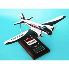 United B-247d 1/48 (KB247uate) Mahogany Aircraft Model