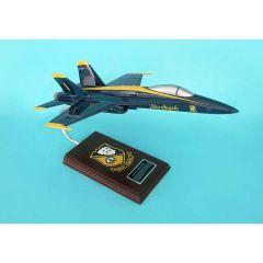 F/A-18a Blue Angels Navy 1/38 (CF018bats) Mahogany Aircraft Model