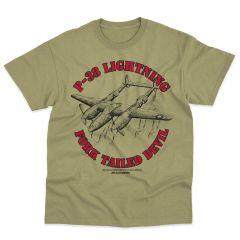P-38 FORKED-TAILED DEVIL Blackbird T-Shirt