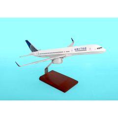 United 757-200 1/100 Post Continental Merger (KB757cautr)  Mahogany Aircraft Model