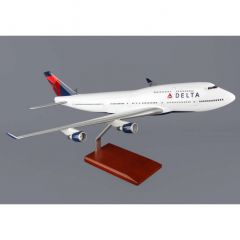 Delta 747-400 1/100 New Livery (KB747dtr)  Mahogany Aircraft Model