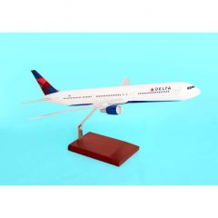 Delta 767-400 1/100 New Livery (KB7674dtr) Mahogany Aircraft Model