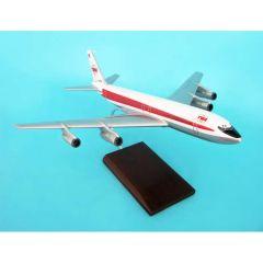 Twa B707-320 1/100 Double Globe Livery (KB707twat) Mahogany Aircraft Model