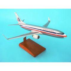 American 737-800 1/100 W/Winglets Old Livery (KB737aatr)  Aircraft Model