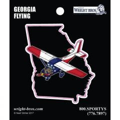 Georgia State with Airplane Sticker