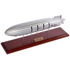 Uss Macon Navy Airship Blimp 1/450 (kxmb) Mahogany Aircraft Model