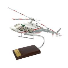 Bell 407 1/30 Helicopter Mahogany Aircraft Model