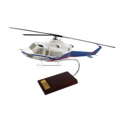 Bell 412 1/30 Helicopter Mahogany Aircraft Model