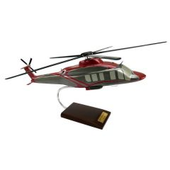 Bell 525 Relentless 1/30 Helicopter Mahogany Aircraft Model