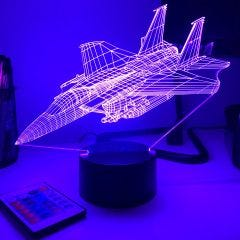 F-15 Strike Eagle 3D Aircraft Color Changing Lamps