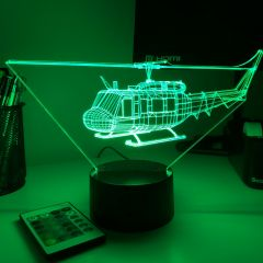 UH1 Huey 3D Aircraft Color Changing Lamps