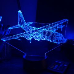 C130 Hercules 3D Aircraft Color Changing Lamps
