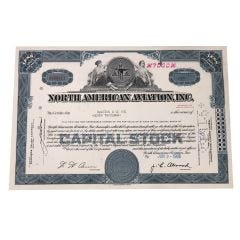 North American Aviation Certificate of Stock