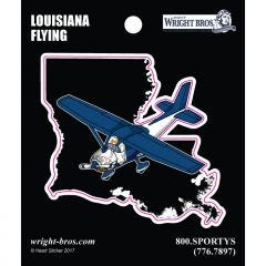 Louisiana State with Airplane Sticker