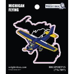 Michigan State with Airplane Sticker