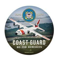 """Coast Guard HC-130 Hercules - 14"""" dia."""