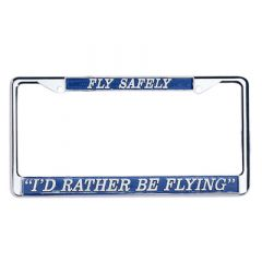 I'd Rather Be Flying License Plate Frame