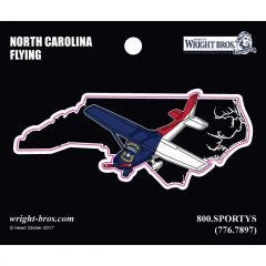 North Carolina State with Airplane Sticker