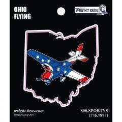Ohio State with Airplane Sticker