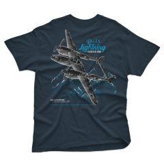P-38 FROZEN IN TIME (Blue Dusk) Blackbird T-Shirt