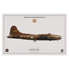 "Paul Tibbets B-17 ""Red Gremlin"" Signed Aircraft Print"