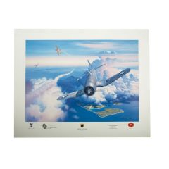 Limited Edition Zero Fighter Sweep Print Signed by Ken Walsh