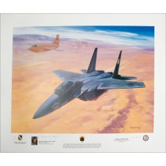 """""""Yeager's Last Military Flight"""" Print Signed by Chuck Yeager and Roy Grinnell"""