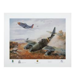 Yeager's First Jet Print Signed by Chuck Yeager