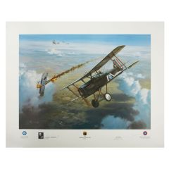 Limited Edition First Victory Print Signed by WWI Ace George Vaughn
