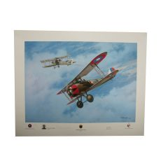 Limited Edition Fifth Victory Print Signed by WWI Ace Douglas Campbell