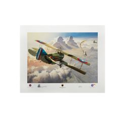 Limited Edition Last Victory Print Signed by WWI Ace Ray Brooks