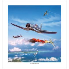 """Limited Edition """"Pappy"""" Boyington Artist Signed Print"""