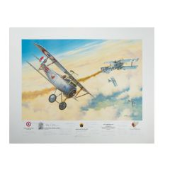 Limited Edition First American Ace Print Signed by 30 Aviators (26 Aces)