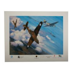 Limited Edition Christmas Over Rangoon Print Signed by 5 Flying Tiger Aces