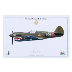 Limited Edition Signed Aircraft Print - Tex Hill P-40 Warhawk Signed Print