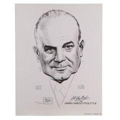 Jimmy Doolittle Signed Portrait