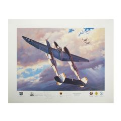 """Limited Edition """"Danger Lightning Nearby"""" Print Signed by 11 P-38 Aces"""