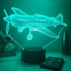 P40 Warhawk 3D Aircraft Color Changing Lamps
