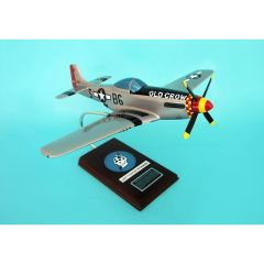 P-51D MUSTANG SILVER OLD CROW 1/24 (AP51OCTS) Mahogany Model