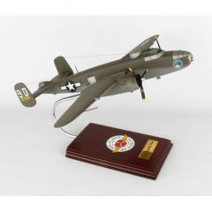 B-25j Mitchell Briefing Time 1/41 (AB25bts) Mahogany Aircraft Model